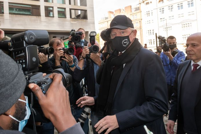 Becker op 24 september 2020 bij het verlaten van Westminster Magistrates Court in Londen.