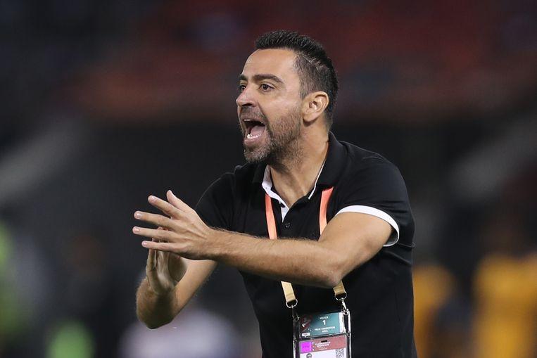 Xavi als trainer van Al Sadd.