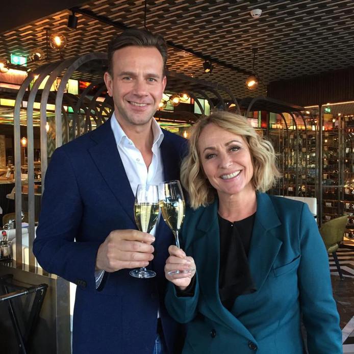Angela met RTL-baas Sven Sauvé
