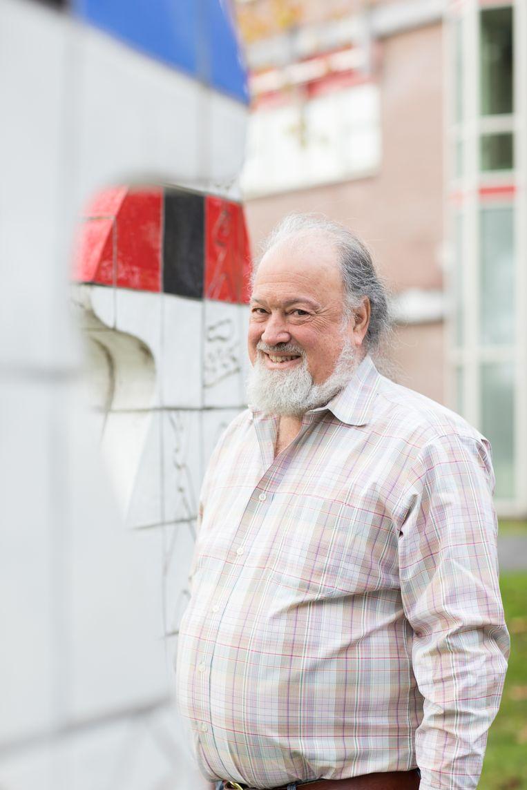 David Chaum bij Centrum Wiskunde & Informatie in Amsterdam. Beeld Inge Hoogland