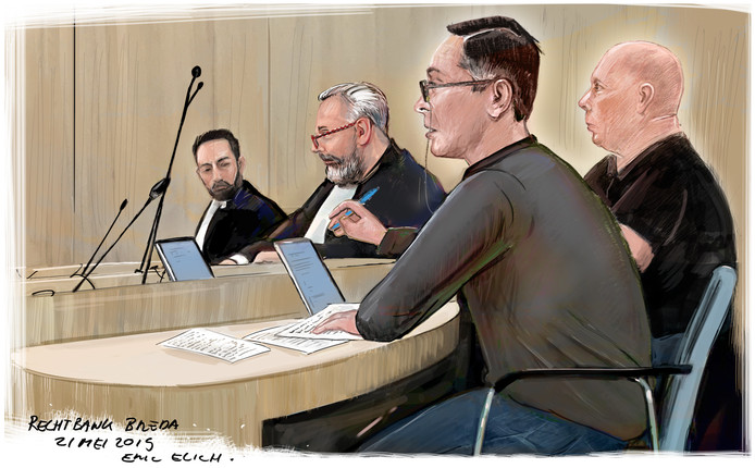 Rechtbanktekening 21 mei 2019 - Kluisjesroof Oudenbosch