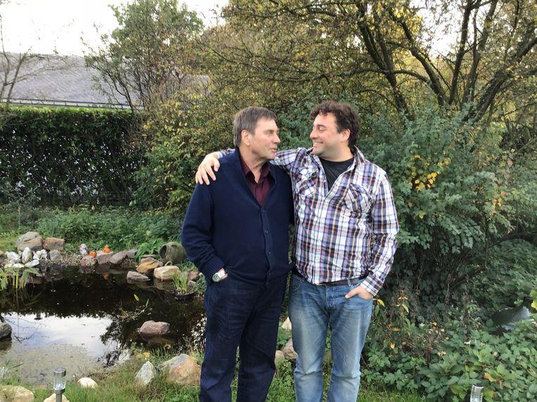 Wim met zijn papa Marc.