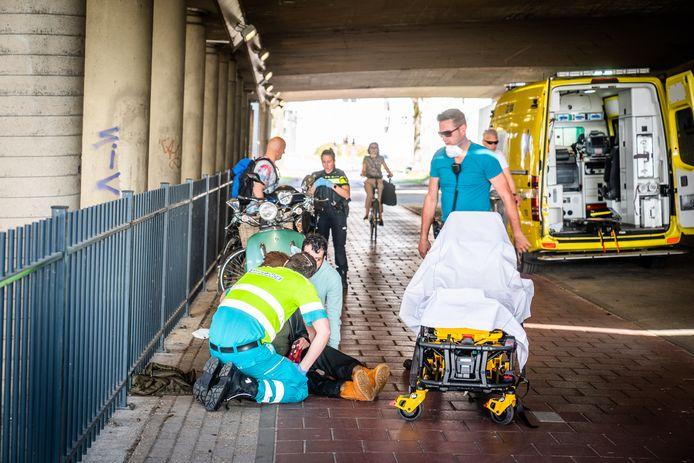 Een vrouw raakte bij het ongeval gewond.