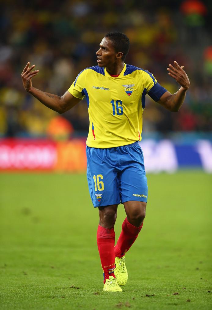 Antonio Valencia in het shirt van Ecuador.