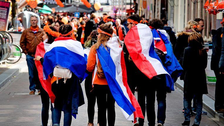 De Nederlandse vlag op Koningsdag. Beeld anp
