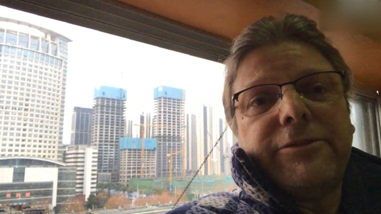 Vlaming Johan Smets in de spookstad Wuhan.