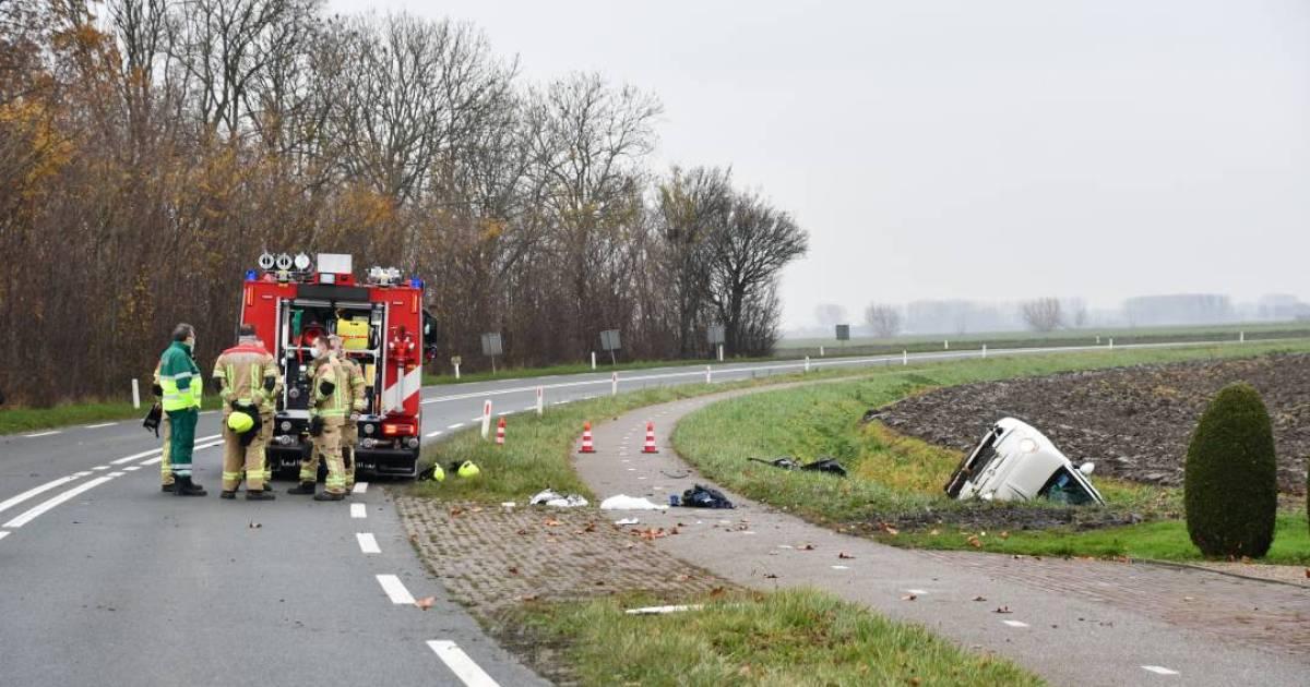 Fietser gewond bij ernstig ongeluk bij Terneuzen.