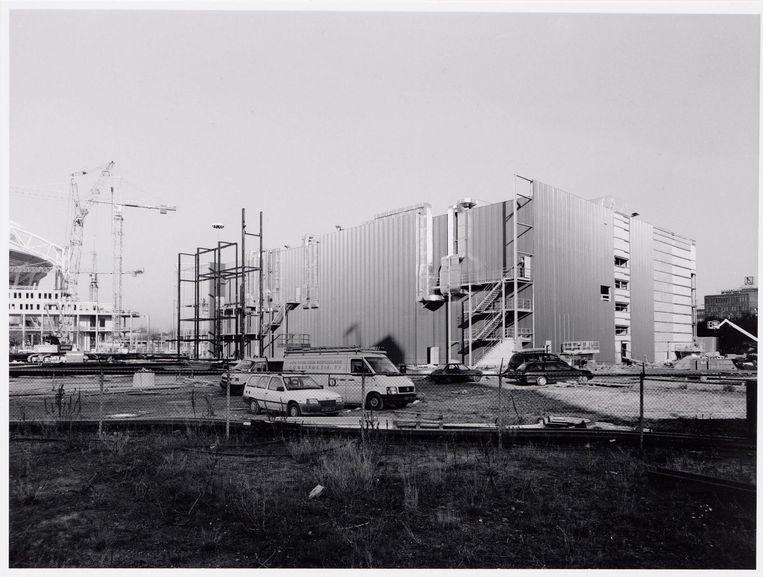 De bouw van bioscoop Pathé Arena, 1999 Beeld Beeldbank Stadsarchief Amsterdam