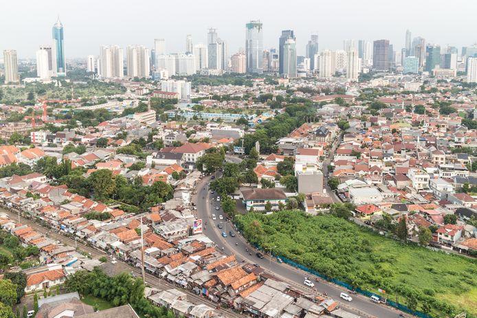 Vue aérienne sur Jakarta, la capitale de l'Indonésie.