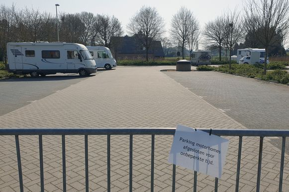 De mobilhomeparking in Grobbendonk is momenteel afgesloten voor mobilhomes.