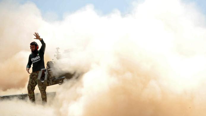 Afghaanse soldaten in gevecht met IS in de regio Nangarhar