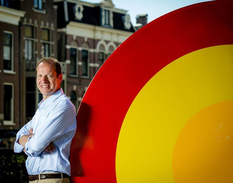 Christian Prudhomme, directeur van de Tour de France in het centrum van Utrecht. Beeld anp