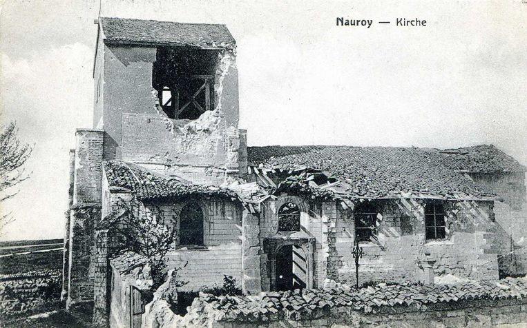 Nauroy is een gemeente in het Franse departement Aisne (regio Hauts-de-France). De kapel van Nauroy van witte steen herinnert op sobere wijze aan het feit dat hier een heel dorp van de kaart is geveegd en nooit meer herbouwd.
