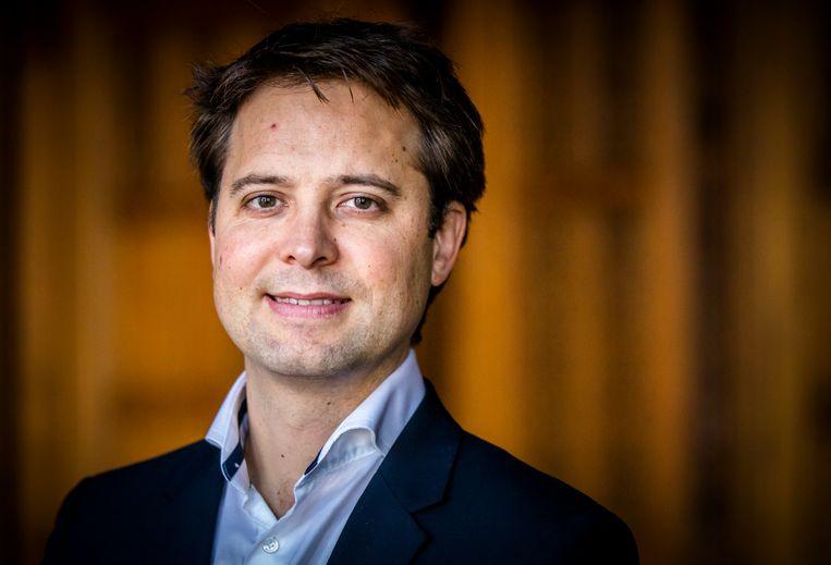 Joost Sneller, Kamerlid namens D66.  Beeld ANP