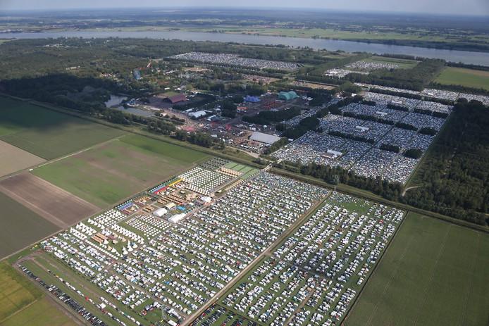 Lowlands vanuit de lucht.