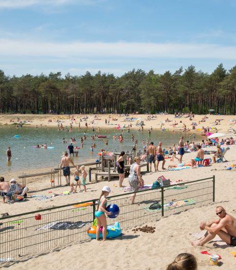 Het is vooral gezellig druk op de stranden bij Harderwijk, Nunspeet en Heerde