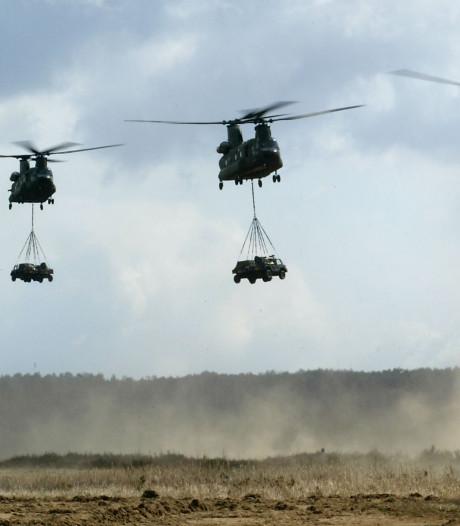 Laagvliegende heli's bij oefening Black Cat rond vliegbasis Deelen