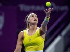 Kvitova en Sabalenka naar finale in Doha