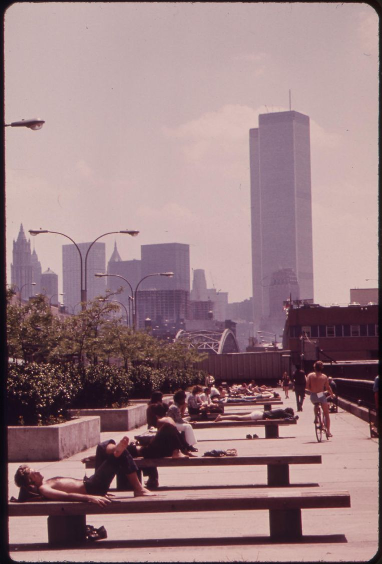 De Morton Street Pier bij de Hudson rivier in New York in mei 1973. Beeld Will Blanche/National Archives and Records Administration/Wikimedia Commons