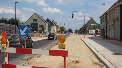 Grote Steenweg N9 deze week terug open in beide richtingen