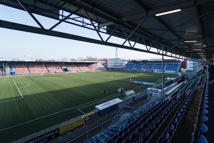 Het veld van stadion De Vliert blijft de komende drie weken leeg.