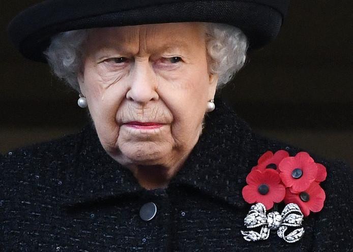 La Reine lors de la cérémonie pour l'Armistice.