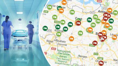 IN KAART. Zoveel kost ziekenhuisopname in jouw regio