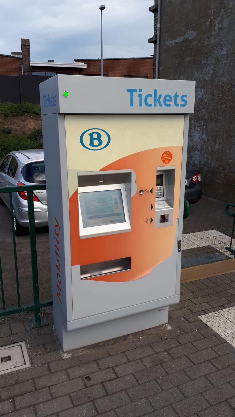 Een beeld van een ticketautomaat in een NMBS-station. Bij een dergelijke automaat werd een dame op 5 juli overvallen in het station van Diksmuide.