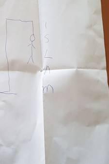 Dreigbrief bezorgd bij moskee in Zeist: persoon aan galg met tekst 'islam'