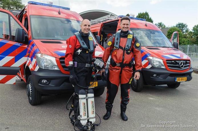 Brandweer Twente heeft een nieuwe duikuitrusting gekregen