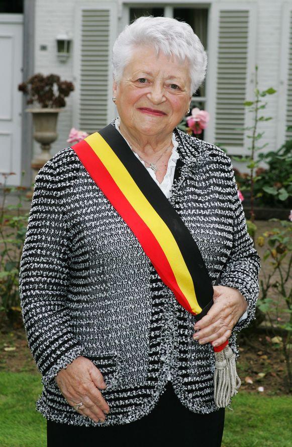 Burgemeester Diane Verbist-Vandewijngaerden.