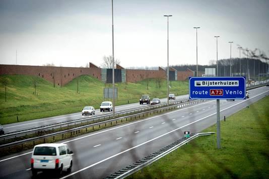De A73 bij Beuningen.