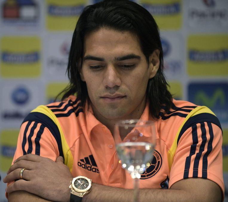 Radamel Falcao maakt tijdens persconferentie bekend dat hij niet naar Brazilië gaat Beeld belga