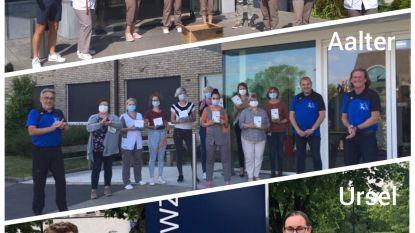 Joggingclub Aalter steunt woonzorgcentra in Aalter, Ursel en Zomergem
