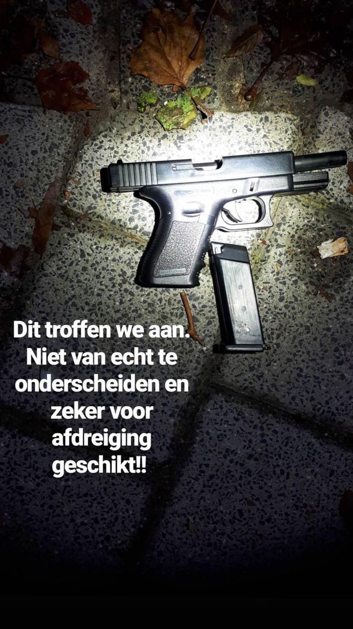 De politie trof meerdere wapens aan