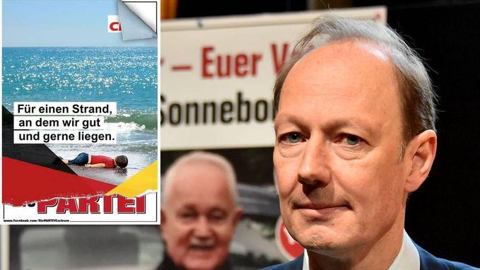 """Duitse partij schokt met iconische foto op campagneposter: """"Voor een strand waar we graag liggen"""""""