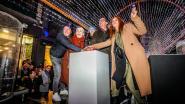 IN BEELD. Barbara Sarafian en Rik Verheye openen spectaculaire lichttunnel in Oostende