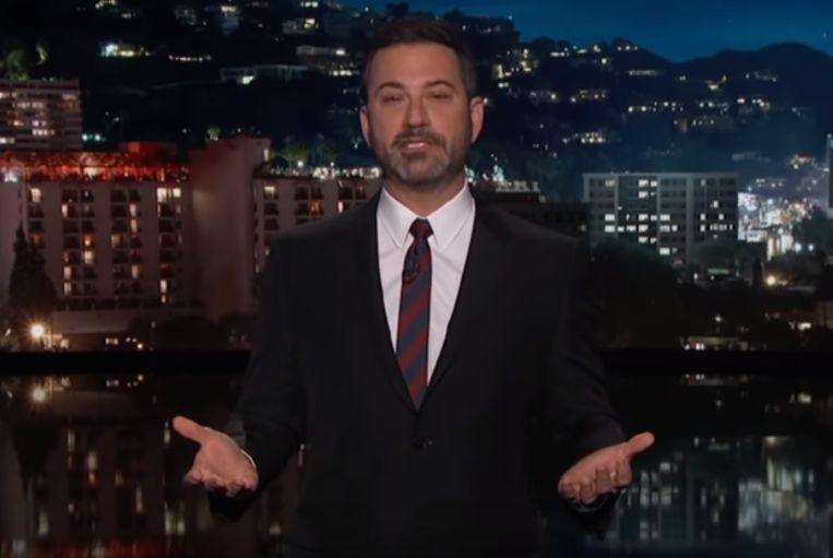 Een sketch over het presidentieel alarm komt Jimmy Kimmel nu duur te staan.