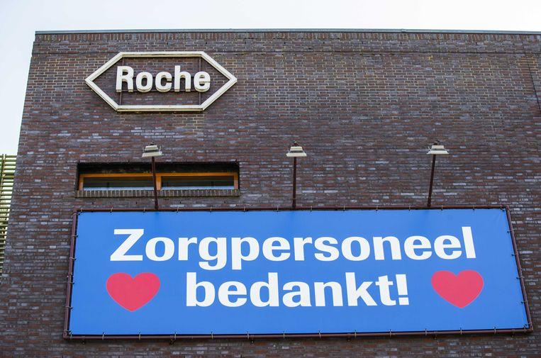 Exterieur van een vestiging van de Zwitserse farmaceut Roche.  Beeld ANP
