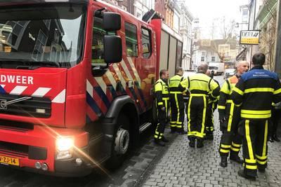 Waterschade door lekkende stortbak in winkel in Breda
