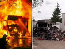 Beelden van vrachtwagenbrand waarbij trucker uit Twenterand voor 70 procent verbrandde op tv