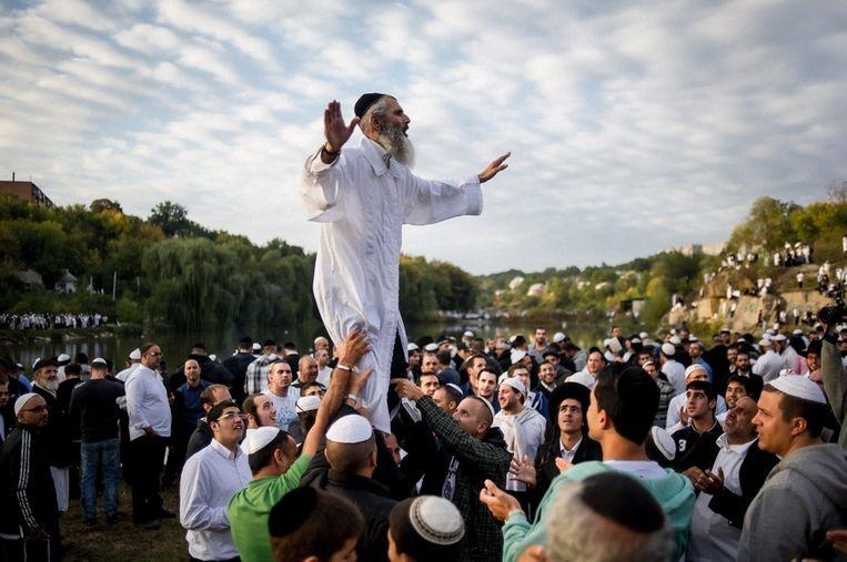Orthodoxe Joden vieren Rosh Hashanah in Uman, een stad op 200 kilometer van het Oekraïense hoofdstad Kiev. Beeld EPA