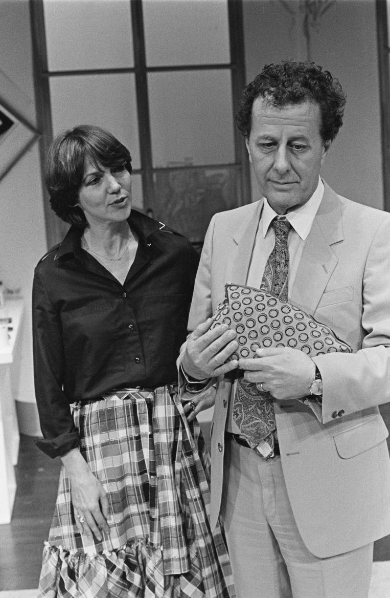 Simone Rooskens en Luc Lutz in 'De hortensia' (1982).  Beeld Kors Bennekom