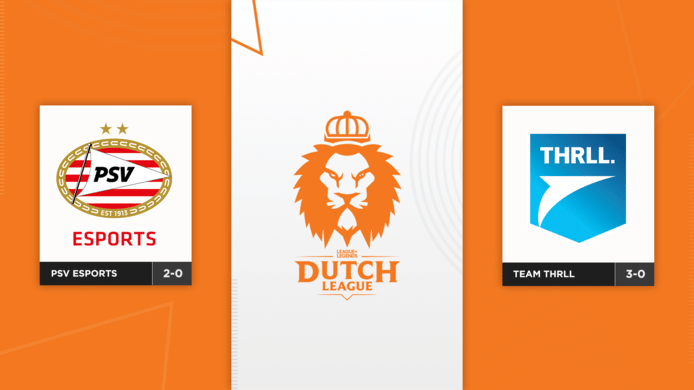 PSV Esports vecht vanavond om de koppositie in de Dutch League tegen Team THRLL.
