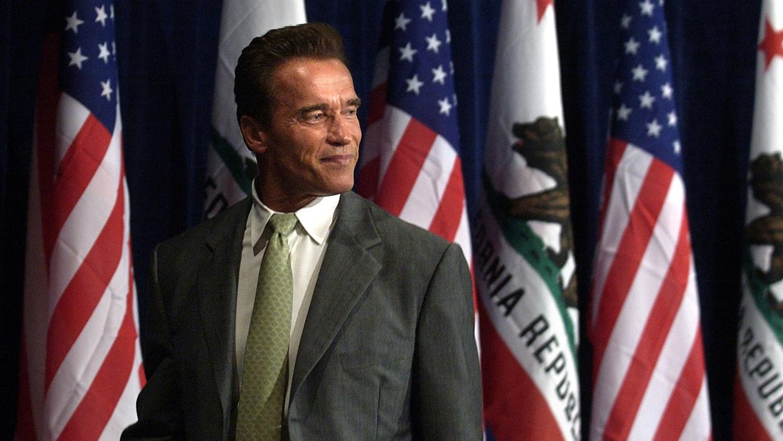 'Jammer dat ik niet in Amerika geboren ben. Anders was ik zeker presidentskandidaat geweest' Beeld © Wally Skalij/La Times / Getty