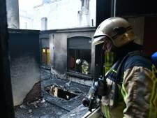 Inferno legt café in Brederodestraat in de as