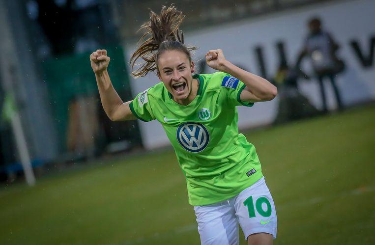 Tessa Wullaert is een vaste waarde bij Wolfsburg, maar haar contract loopt er af.