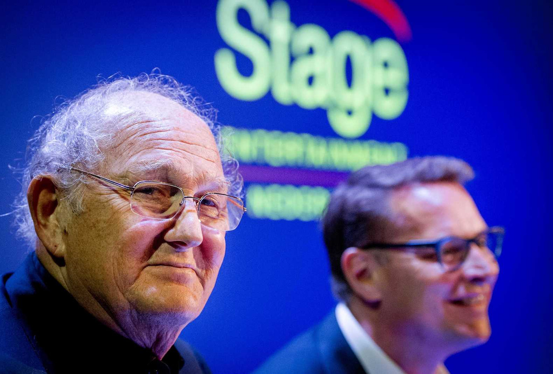 Joop van den Ende, met 40 procent grootaandeelhouder van Stage Entertainment, en Albert Verlinde die de Nederlandse tak leidt.