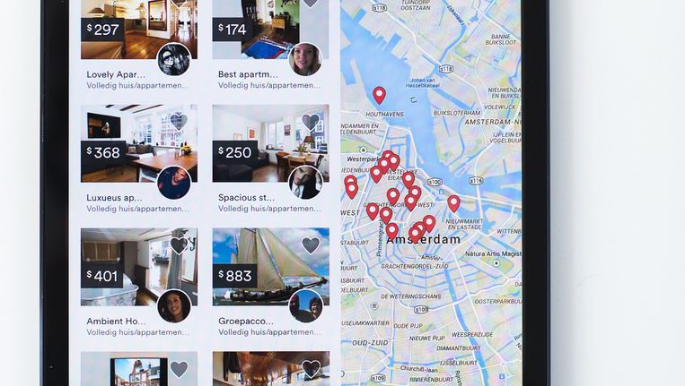 In totaal verbleven vorig jaar 575.000 toeristen via Airbnb in Amsterdam. Beeld anp