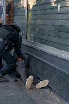 Acte 62 des gilets jaunes: un policier frappe un jeune homme à terre le visage en sang